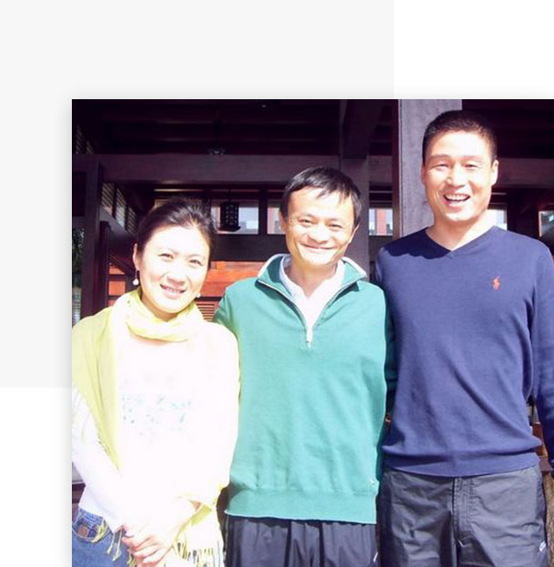 The founders of Sanleplastics- Maya Yu(left),Diping Wu(right) and the founder of Alibaba Group - Jack Ma(Middle)