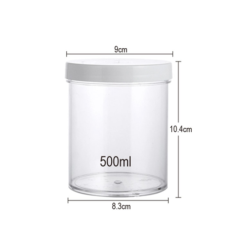 size of 500ml candy jar