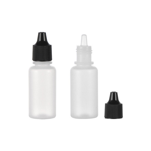 7ml natural-colored LDPE plastic boston round bottles