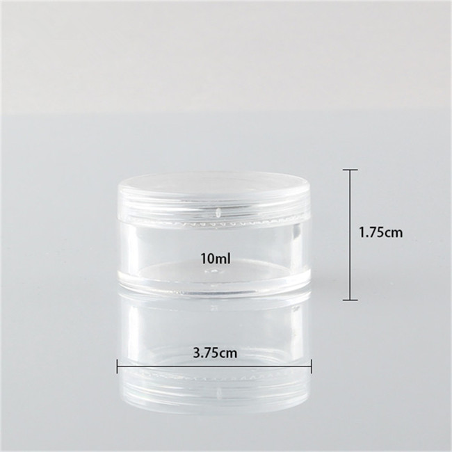 10ml clear sample plastic jar size