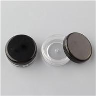 10ml clear jar with black lid