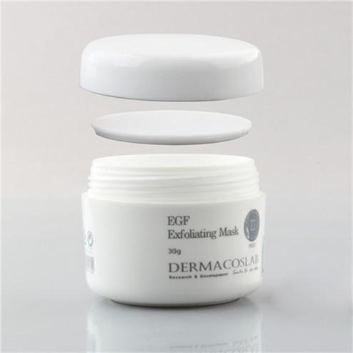 30ml white pp plastic cream jar with silk printing