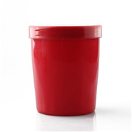 red pp plasti storage jar