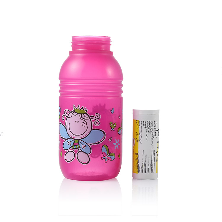 plastic bottle with heat transfer printing effect