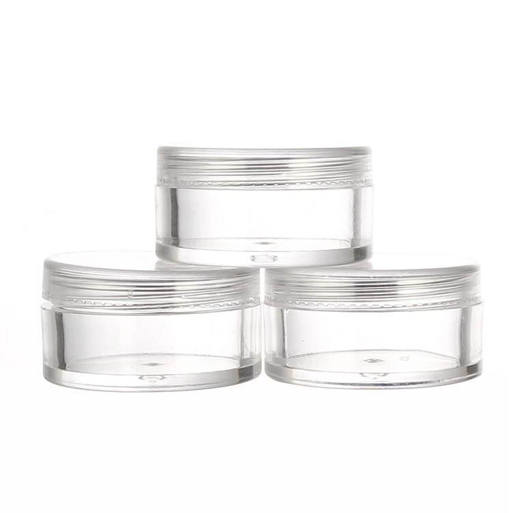 clear 5ml ps plastic sample jar
