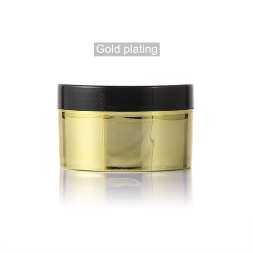 250ml PP Mask Jar With Transparent Pad with gold plating cover