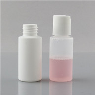1oz white HDPE/LDPE plastic cylinder bottles 20/410 JF-009