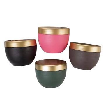 250ml pink black green brown Cream Jar