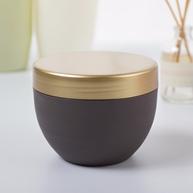skin care jars brown