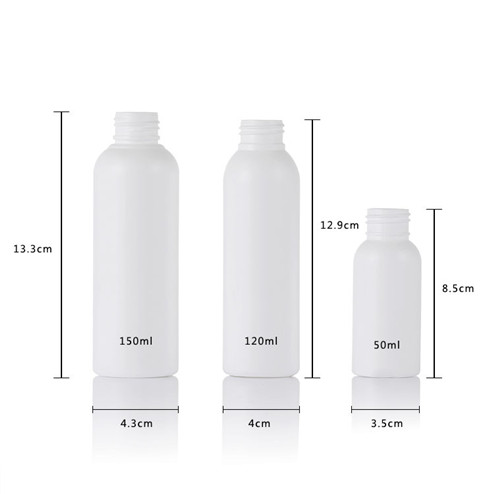size of 50-150ml plastic bottle with twist top cap