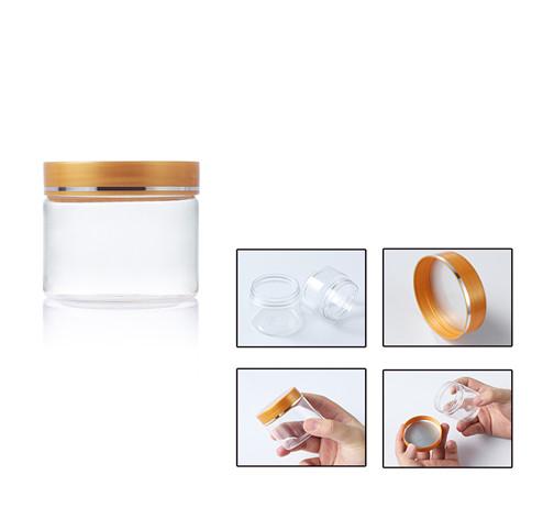 80ml clear PET plastic jar detail