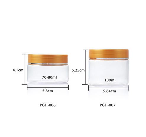 clear PET plastic jar size