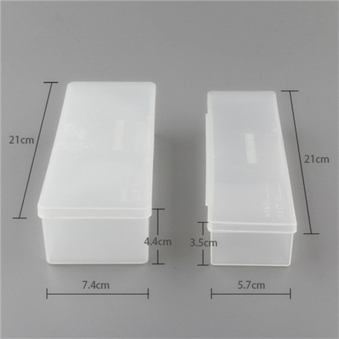 factory of transparent PP rectangular plastic box for pencil YHF-924