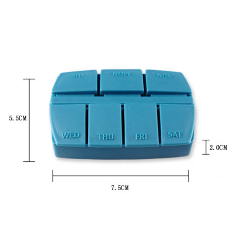 Custom PP pill plastic box with 7 dividers YHF-903