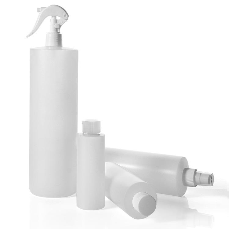 cylinder round pe bottle