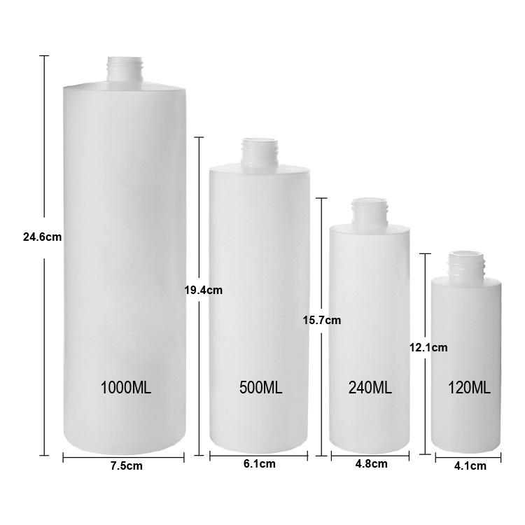 cylinder hdpe bottle sizes