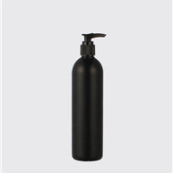 12oz black HDPE boston round bottles JF-161