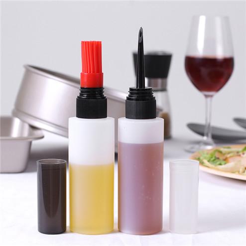 120ml (4oz) white LDPE/HDPE cylinder plastic bottles with 24/410 neck finish JF-101