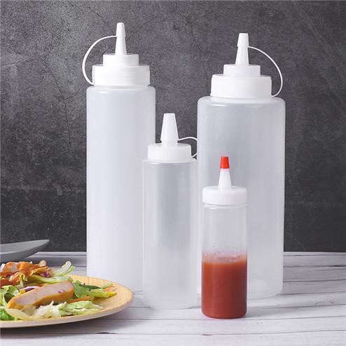 empty sauce bottle in variety volume