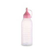 factory of 250ml LDPE plastic squeeze bottle with pink liner cap