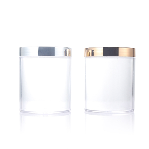 16OZ 480ml PS clear jar with golden lid GFA-568