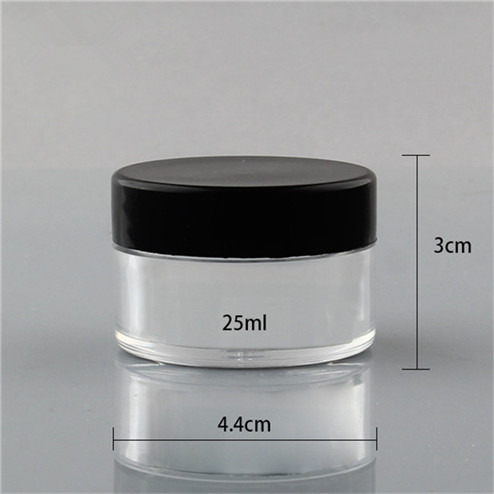 size of 25ml PS jar with screw lid 4.4*3cm