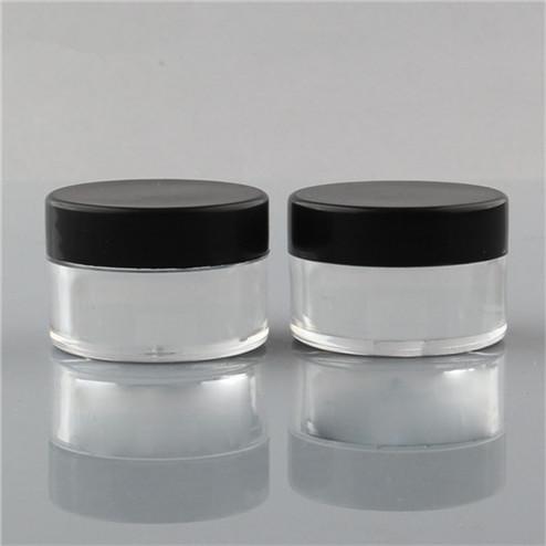 15ml PS jar with black screw lid