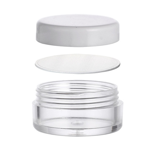 5ml Custom Color Small PS Plastic Jar with white Screw Lid