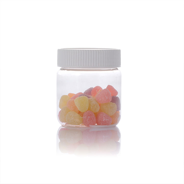 PET clear Jar with candy