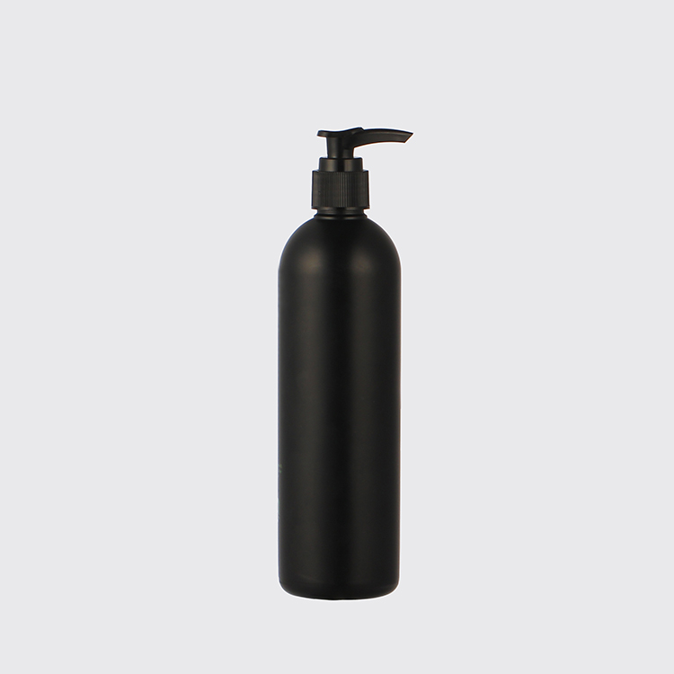 12oz black hdpe boston round bottle