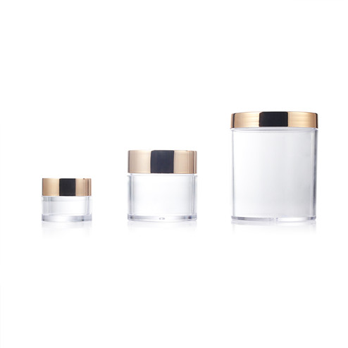 PS clear jar with golden lid group