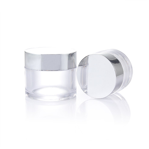 4OZ PS clear jar with golden lid GFA-567