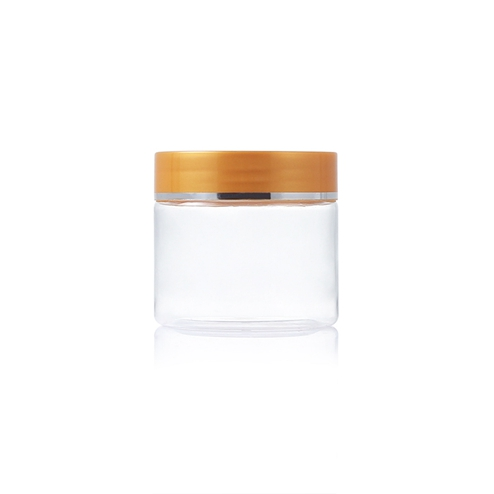 100ml plastic pet clear round jar with lid PGH-007