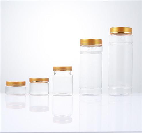 clear PET plastic jars different sizes