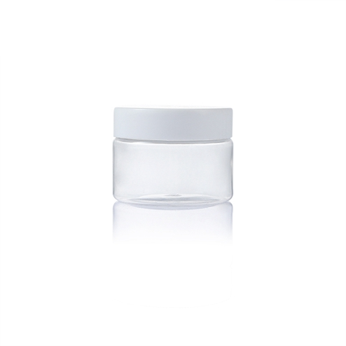 150ml plastic pet clear round jar with white lid PGH-002