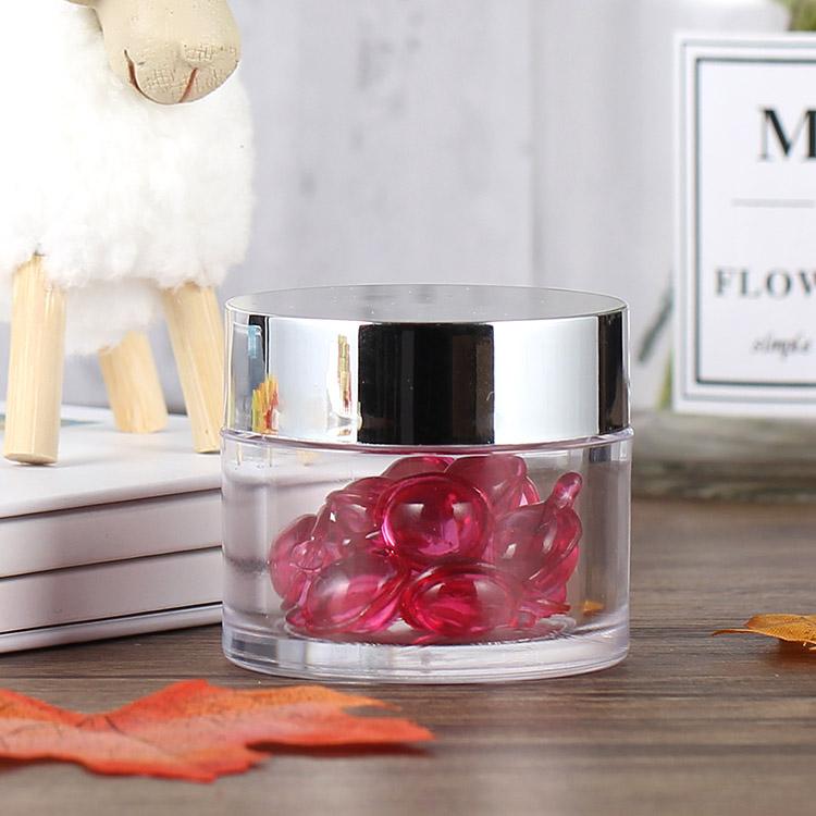 2oz clear jar with silver cap