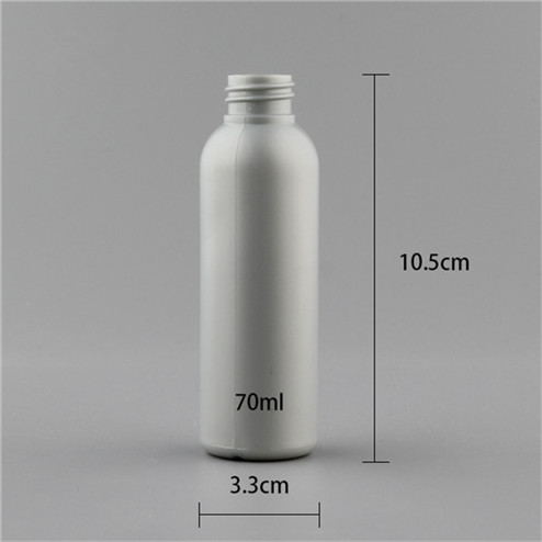 size of 70ml HDPE /LDPE Plastic Bottle with neck finish 20-410