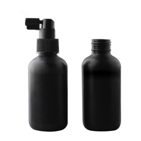 4oz natural colored LDPE boston round bottle with sprayer