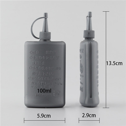 size of 100ml Long tip cap plastic engine oil bottle with industrial packaging YFA-204