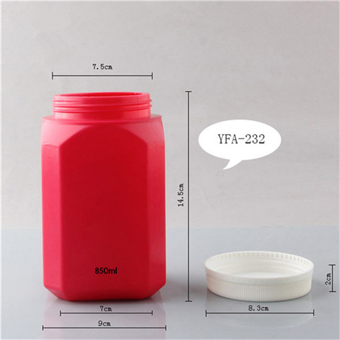 size of size of Opaque white HDPE 850ml plastic bottle