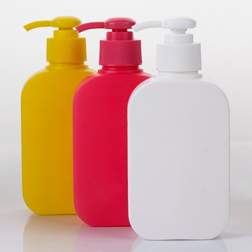 square hdpe plastic bottle with lotion pump