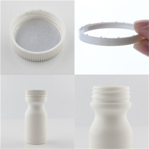 detail of 50ml HDPE plastic medicine bottle
