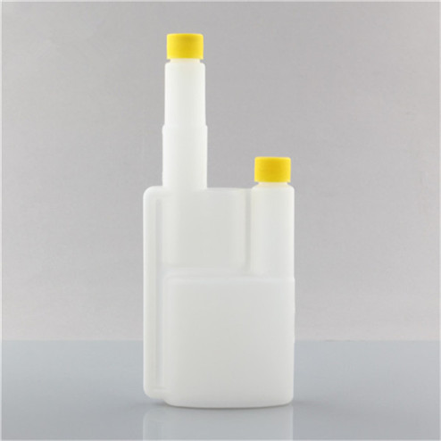 manufacture 150ml translucent HDPE twin neck bottle