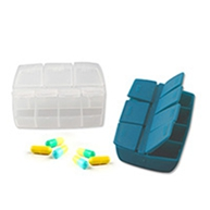 Custom PP pill plastic box with 7 dividers YHF-903