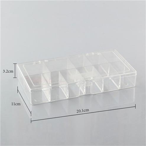 Transparent PS rectangular plastic box YHF-922