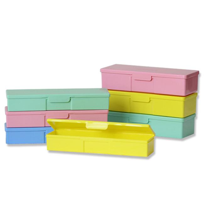 colorful plastic pencil box
