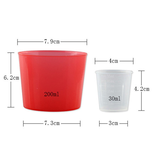 size of 30ml and 200ml measuring cup ZFA-703,787
