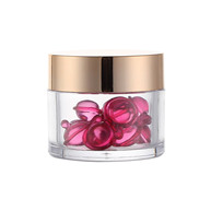 cosmetic jar 2OZ PS jar with gold screw lid