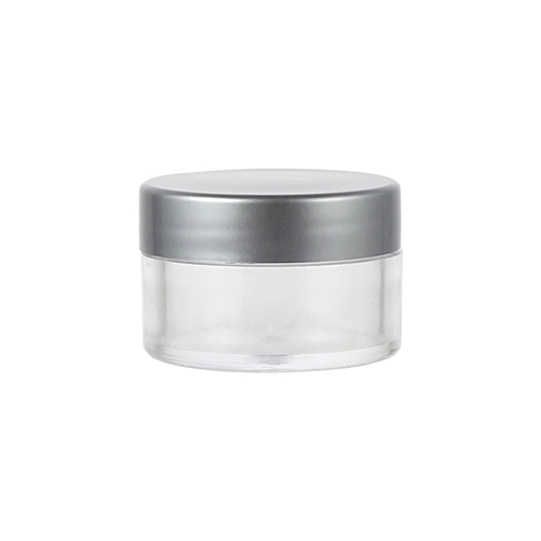 vmanufacturing 15ml cream jar with silver lid