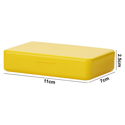 Yellow PP rectangular plastic box with compartment YHF-926